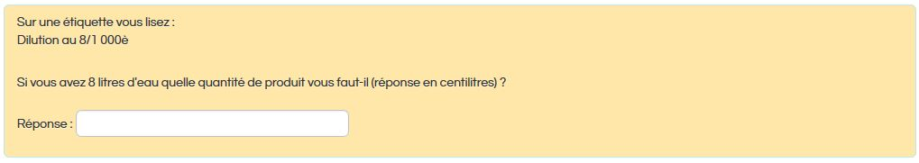 Question sur les dilutions