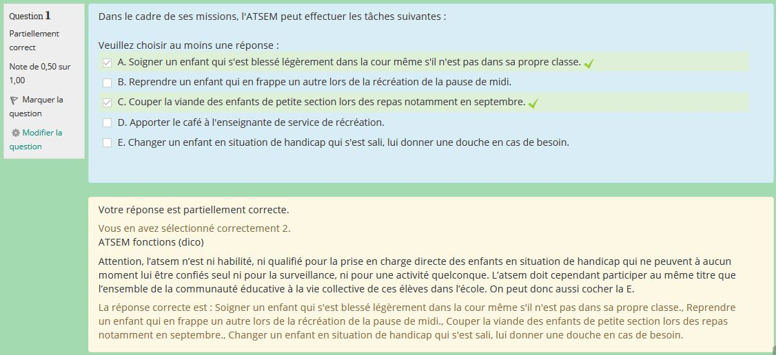 Exemple de correction